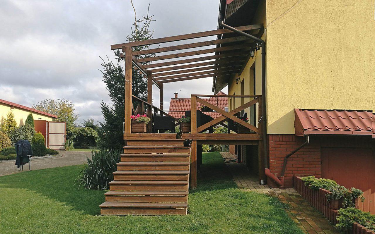 Taras drewniany podwyższany